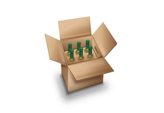 6 bottle delux wine packaging - Saxon Packging | premium wine boxes | eCommerce boxes for wine