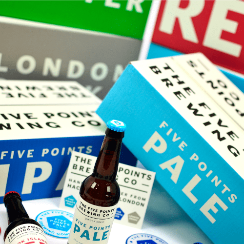 Beer Packaging for The Five Points Brewing Company