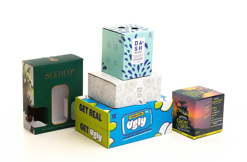 low and non alcoholic drinks packaging