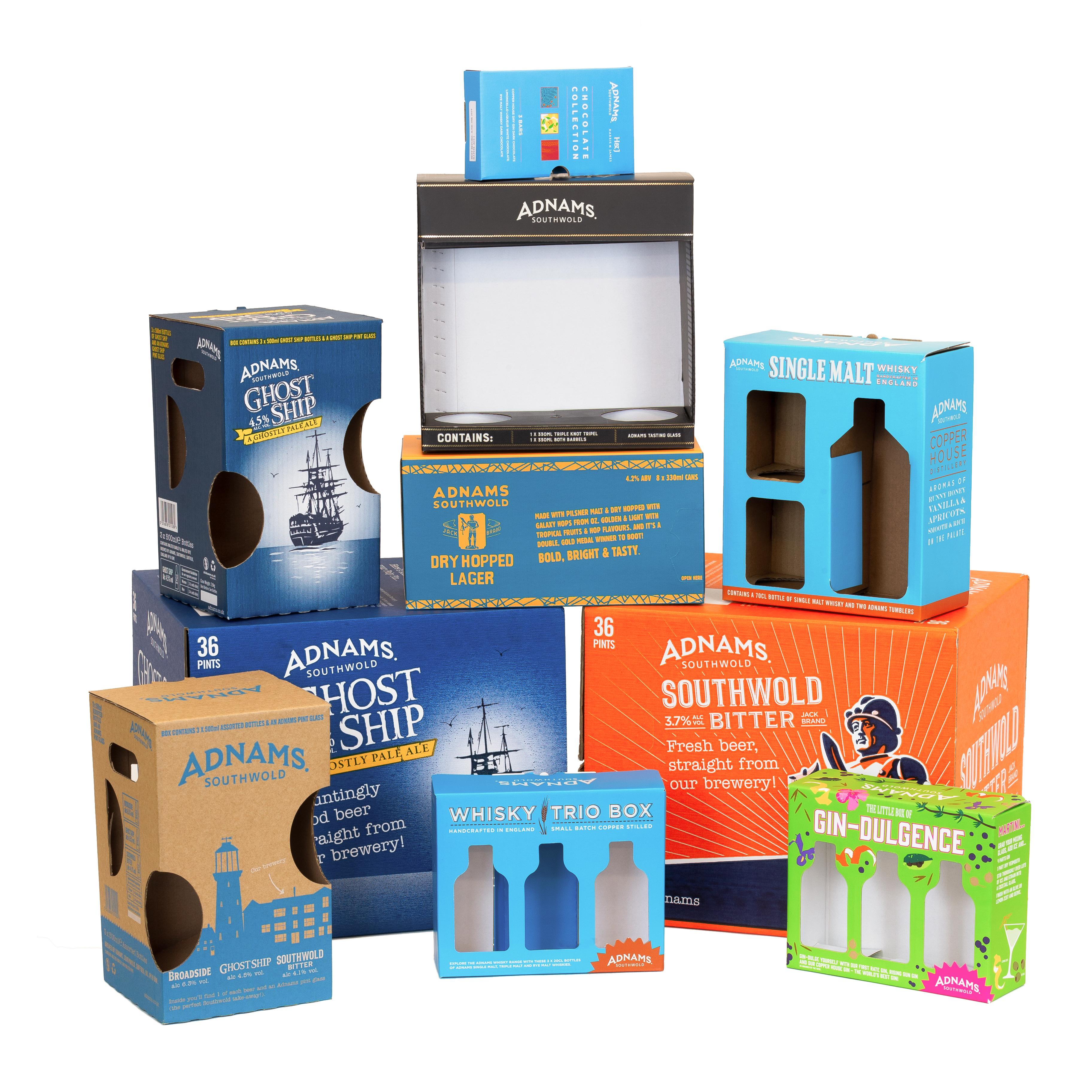 Adnams Corrugated Packaging. Saxon Packaging. 01502 513112.