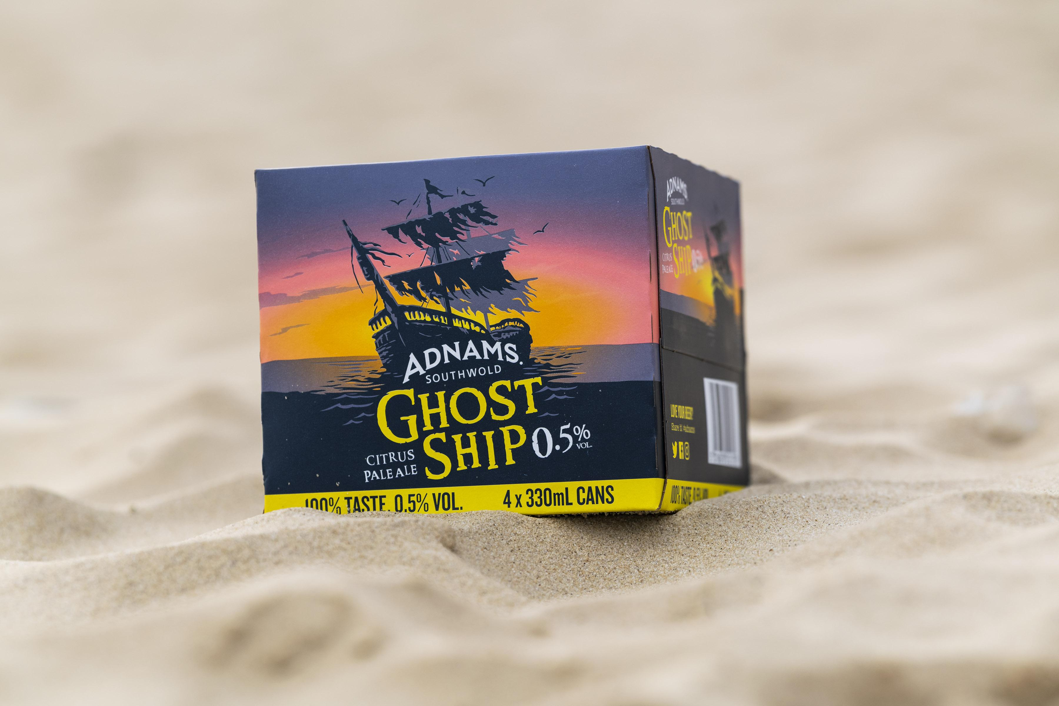 Adnams Ghost Ship 0.5% Low Alcohol Packaging | Saxon Packaging - 01502 513112