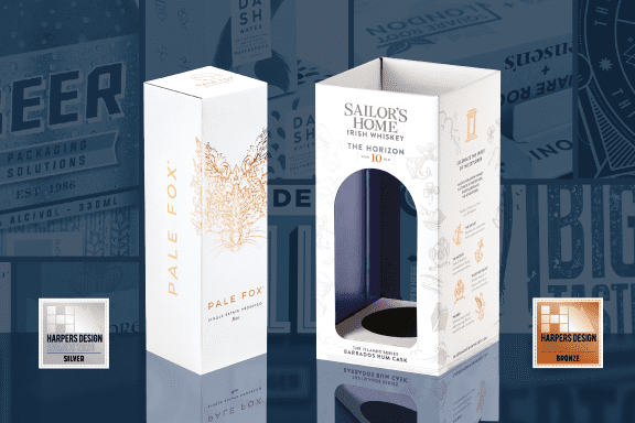 Double Awards in The Harpers Design Awards 2020 for Drinks Packaging