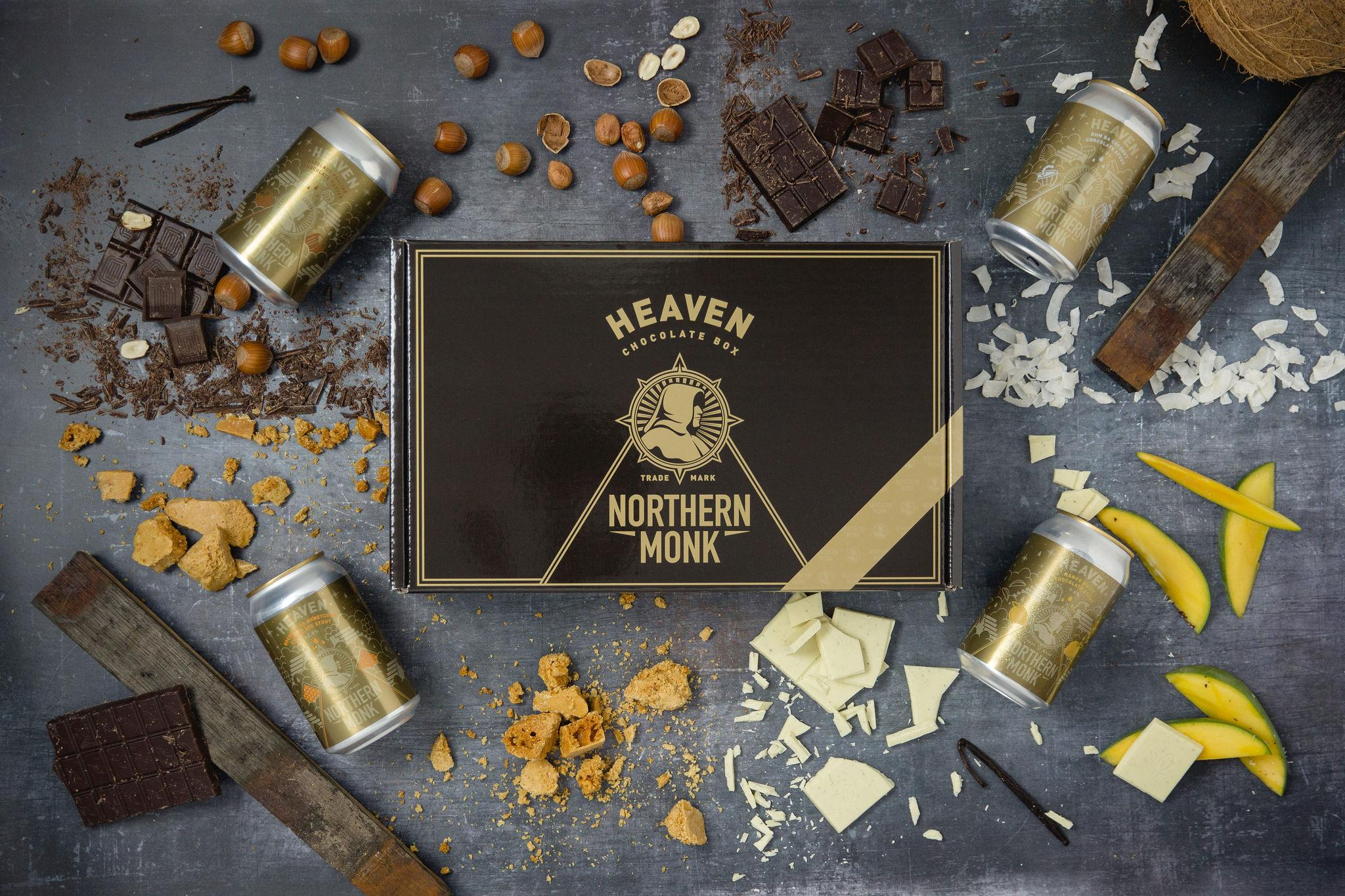 Northern Monk Packaging | Beer Packaging | Beer Boxes | Corrugated Packaging | Cardboard Bozes | Heaven Chocolate Box | Saxon Packaging | UK Packaging Manufacturer | Bespoke Packaging | Custom Packaging | Printed Packaging