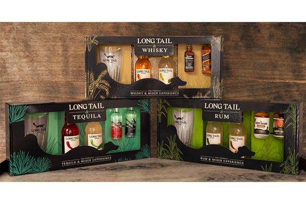 Long Tail Mixers - Gift Packaging | Saxon Packaging | Litho Printed Packaging | Die Cut Packaging | Custom Packaging | UK Packaging Manufacturer | Bespoke Packaging | Spirits Packaging | Retail Packaging