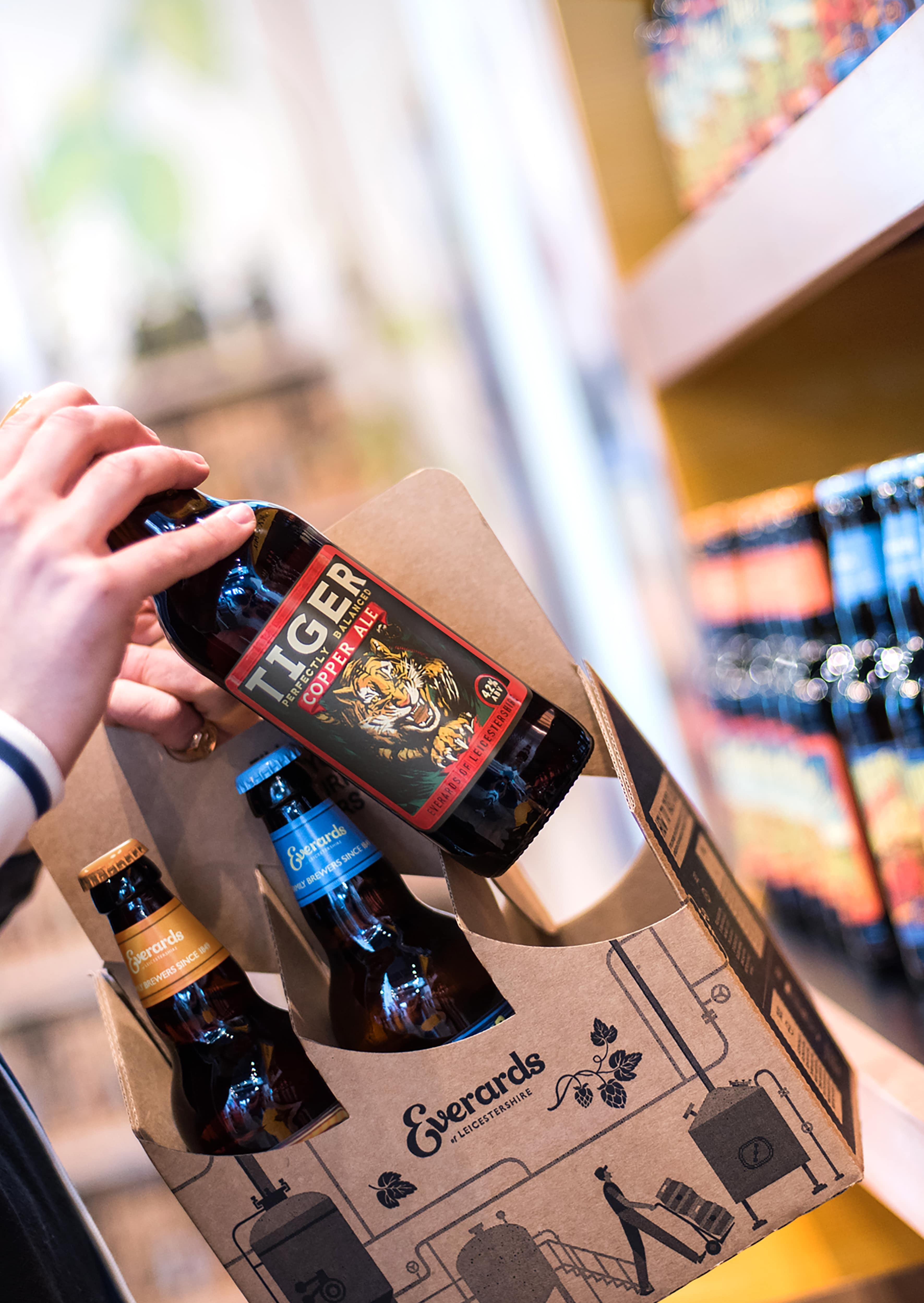 Everards of Leicestershire - Beer Packaging | Six Bottle Carry Pack | Saxon Packaging